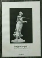 LPZ) Kunst Blatt Skulptur nach R Boelitz Berlin 1913 Reifenwerferin Antike 24x34