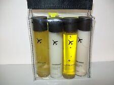 Travel Essentials 4 Piece Travel Bottle Set 2 Fl OZ Each New