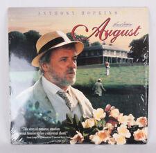 RARE Laserdisc August starring Anthony Hopkins, VG+