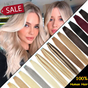 """Highlight Tape in Soft Remy Human Hair Extensions Full Head Skin Weft 10-24"""" ttt"""