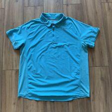 Nike Tennis Polo 👕 Shirt Blue Dri - Fit Collar