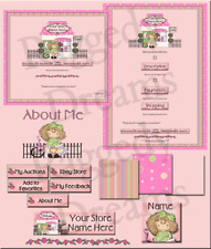 Evie's Pink Floral Boutique COMPLETE EBAY STORE DESIGN Raggedy Dreams