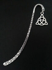 New Collectable Antique Silver Tone Metal Bookmark with Celtic Tri Knot Charm