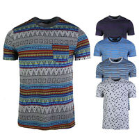 Men's Graphic Short Sleeve Crew Neck Comfort Soft Pocket T-shirt Tee S M L XL
