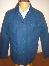"Levi""s Cotton & Linen Blend Commuter Jacket NWT Large $178 Dark Denim Blue"