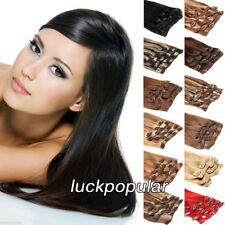 100%Natural Remy Clip in Hair Extensions Full Head Real Human Hair 100gr50cm8pcs
