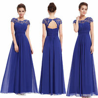 Ever-pretty Long Chiffon Lace Evening Party Gown Bridesmaid Wedding Dress 09993