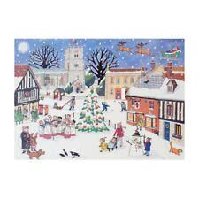 Alison Gardiner Noël dans la Village Calendrier de L'Avent Carton Enfants