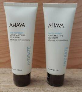 2X NEW Ahava Time To Hydrate Active Moisture Gel Cream 2.5 FL Oz