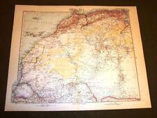 Carta geografica o Mappa Stielers di B. Domann del 1901 Africa area nord ovest