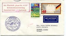 1974 Icelandair Erster Flug Zur Mitternachtssone Reykjavik Polar Antarctic Cover