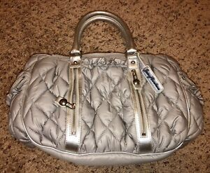 Juicy Couture Gray Quilted Duffle Satchel, NWT