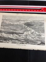 H2-2 Ephemera 1872 Book Plate Amazon - Panorama Of The Andes