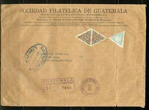 GUATEMALA 10/14/1940 PRINTED MATTER COVER TO SANTA CRUZ BOLIVIAVIA PERU AS SHOWN