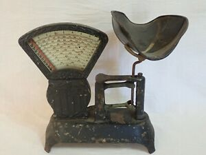 ANTIQUE NATIONAL STORE SPECIALITY CO LANCASTER PA 2 LB CANDY/GENERAL STORE SCALE