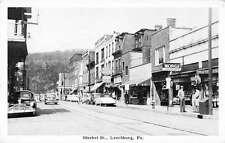 Leechburg Pennslyvania Market Street Antique Postcard J40694