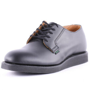 Red Wing Postman Oxford Mens Black Leather Casual Shoes