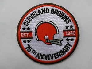 NFL CLEVELAND BROWNS 75th EST 1946 JERSEY JACKET SHIRT HOODIE HAT FOOTBALL PATCH