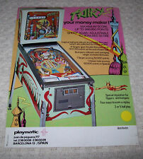 PLAYMATIC FAIRY PINBALL MACHINE FLYER BROCHURE 1976