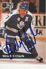 WENDE CLARKL SIGNED 1991-92 PROSET #229  - TORONTO MAPLE LEAFS