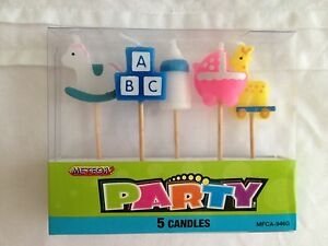 BABY SHOWER BIRTHDAY PARTY CHRISTENING CANDLES NEW ARRIVAL DECORATIONS SUPPLIES