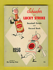 1956 Schaefer and Lucky Strike Baseball Guide and Record Book!  Nice Condition!