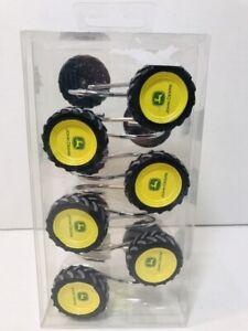 NEW John Deere Shower Curtain Hooks Set of 12 Bathroom Kids Farm Tractor Tires