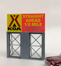KOA Campground Neon Sign O/HO Scale MILLER'S ENGINEERING # 88-3151