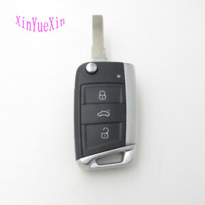Remote Key Shell FOB Case For VW Golf 7 For Skoda Octavia A7 Flip Car Key Cover