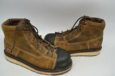 "Timberland PRO A1B4L 6"" Gridworks Non-Slip Wedge Sole EH SOFT TOE WORK Boot 10 M"