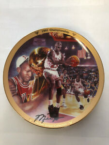 "Michael Jordan Plate ""1991 Championship"" MJ Collection Upper Deck Bradford Exch."