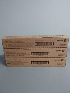 Xerox WorkCentre 7970 / 7556 / 7855 / C8055 Toner Lot of 3 CMY