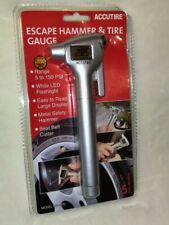 Accutire Digital Tire Pressure Gauge with Emergency Hammer, Seatbelt Blade