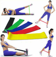 Resistance Band Loop Exercise Gym Yoga Elastic Bands Strength Fitness Set Of 5