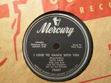 PATTI PAGE - I Love To Dance With You / Near To You   MERCURY 70607 - 78rpm