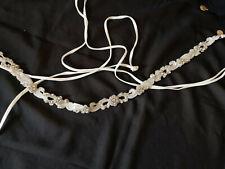 Brautgürtel, Strass, Perlen und ivoryfarbene Bänder - Hochzeit