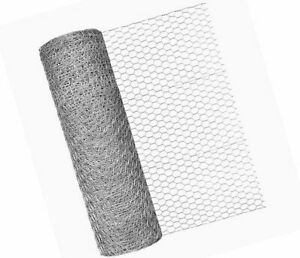 Chicken Wire 5m Galvanised Wire Mesh Netting Fencing Rabbit Aviary - 13mm 25mm