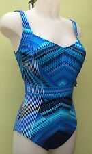 New Gottex Size 8 Blue Women's Swimsuit Swimming Costume
