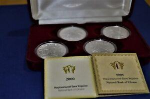 "Set of 4 Silver 10Hr coins ""Princes of Ukraine""."