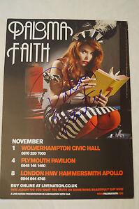Paloma Faith - Classic Concert Card Flyer - Personally signed by Paloma w/ COA