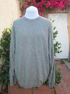 Bullock+Jones SF VTG heather gray sport sweater Scotland 'indoor' cashmere XL