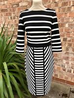 Gabby Skye Striped Wiggle Dress UK Size 12.