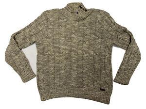 ralph lauren Polo Maglia Uomo Tg L Collo Alto Cotone Vintage Maglione Pullover
