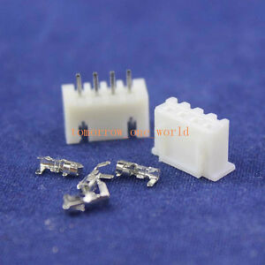50PAIRS - 4 Pin PCB Header and Connector 2.54mm 0.1 inch XH-4P
