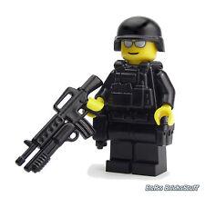 Swat Polizei SEK KSK Custom Soldat mit BrickArms M16, Figur aus LEGO® Teilen
