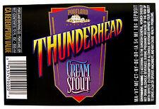 Portland Brewing THUNDERHEAD - CREAM STOUT beer label OR 12oz