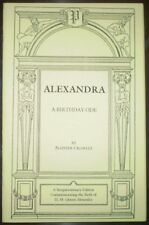 ALEXANDRA, by ALEISTER CROWLEY, OCCULT, POEM, OTO, H. M. QUEEN ALEXANDRA