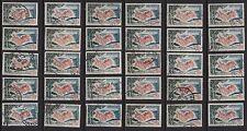 K55* Lot Timbres France Oblitérés n°1391 1963 COTE D'AZUR VAROISE x30 pour étude