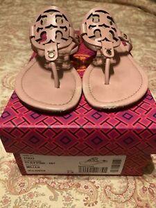 Tory Burch Miller Veg Nappa Sandals Clay Pink Size 7.5 RARE!!