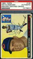Ted Kluszewski 1955 Topps PSA DNA Coa Autograph Authentic Hand Signed